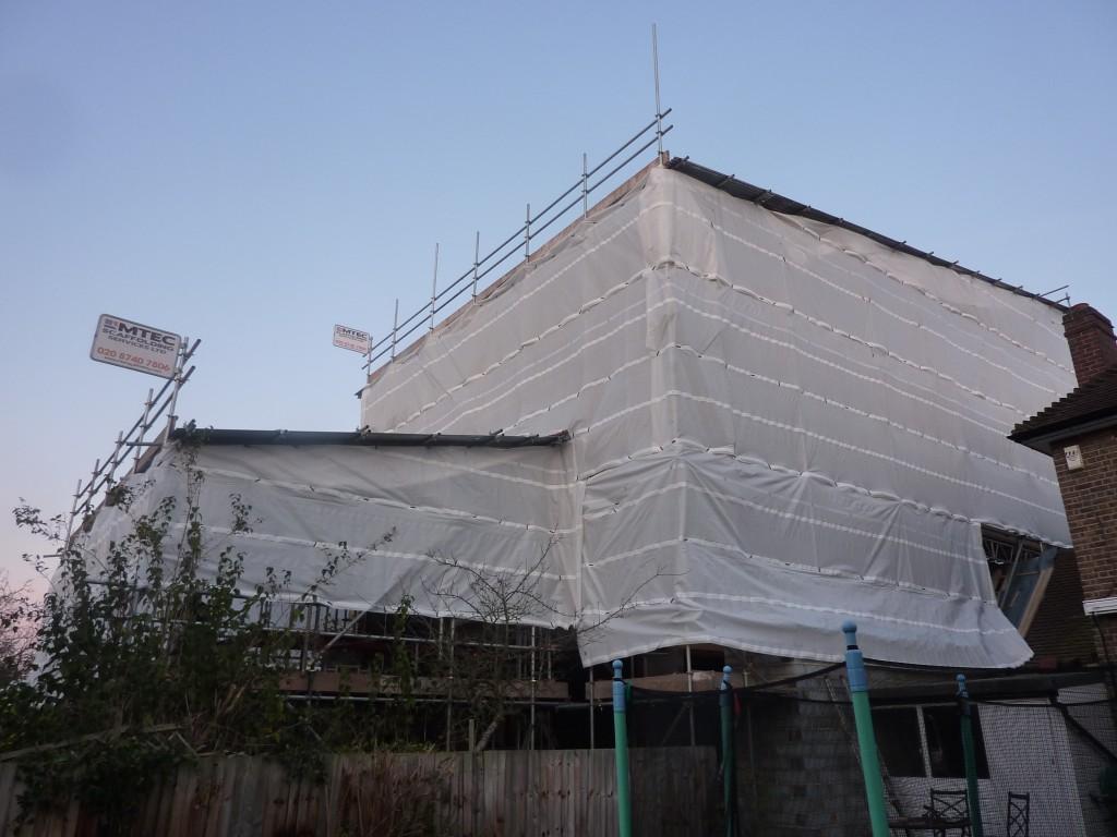 Temporary roof - Petersham